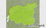 Physical 3D Map of Chernihivs'ka, semi-desaturated