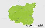 Physical 3D Map of Chernihivs'ka, single color outside
