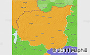 Political 3D Map of Chernihivs'ka