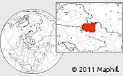 Blank Location Map of Chernihivs'ka
