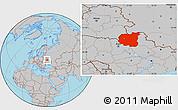 Gray Location Map of Chernihivs'ka