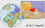 Political Location Map of Chernihivs'ka