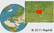 Satellite Location Map of Chernihivs'ka