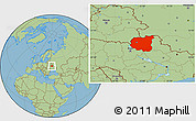 Savanna Style Location Map of Chernihivs'ka