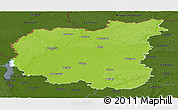 Physical Panoramic Map of Chernihivs'ka, darken
