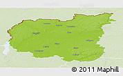 Physical Panoramic Map of Chernihivs'ka, lighten