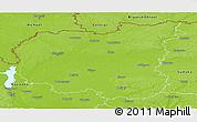 Physical Panoramic Map of Chernihivs'ka
