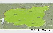 Physical Panoramic Map of Chernihivs'ka, semi-desaturated
