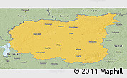 Savanna Style Panoramic Map of Chernihivs'ka