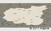 Shaded Relief Panoramic Map of Chernihivs'ka, darken