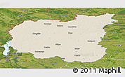 Shaded Relief Panoramic Map of Chernihivs'ka, satellite outside