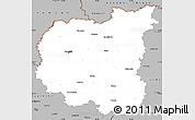 Gray Simple Map of Chernihivs'ka