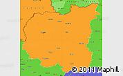 Political Simple Map of Chernihivs'ka