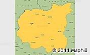 Savanna Style Simple Map of Chernihivs'ka