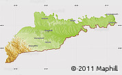 Physical Map of Chernivets'ka, cropped outside