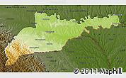 Physical Map of Chernivets'ka, darken