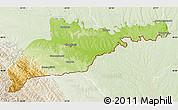 Physical Map of Chernivets'ka, lighten