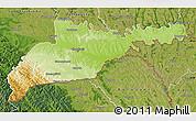 Physical Map of Chernivets'ka, satellite outside