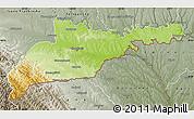 Physical Map of Chernivets'ka, semi-desaturated