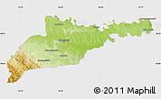 Physical Map of Chernivets'ka, single color outside