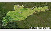 Satellite Map of Chernivets'ka, darken