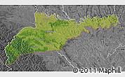 Satellite Map of Chernivets'ka, desaturated