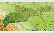 Satellite Map of Chernivets'ka, physical outside