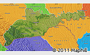 Satellite Map of Chernivets'ka, political outside