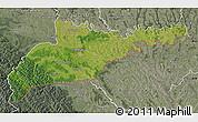 Satellite Map of Chernivets'ka, semi-desaturated