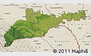 Satellite Map of Chernivets'ka, shaded relief outside
