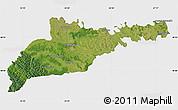 Satellite Map of Chernivets'ka, single color outside