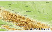 Physical Panoramic Map of Ivano-Frankivs'ka