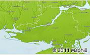 Physical 3D Map of Khersons'ka