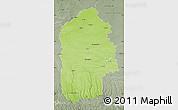 Physical Map of Khmel'nyts'ka, semi-desaturated