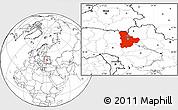 Blank Location Map of Kyyivs'ka