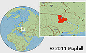 Savanna Style Location Map of Kyyivs'ka