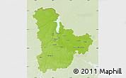 Physical Map of Kyyivs'ka, lighten
