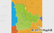 Physical Map of Kyyivs'ka, political outside