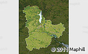 Satellite Map of Kyyivs'ka, darken