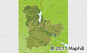 Satellite Map of Kyyivs'ka, physical outside