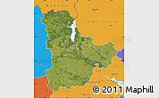 Satellite Map of Kyyivs'ka, political outside