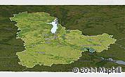 Satellite Panoramic Map of Kyyivs'ka, darken