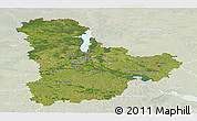 Satellite Panoramic Map of Kyyivs'ka, lighten