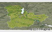 Satellite Panoramic Map of Kyyivs'ka, semi-desaturated