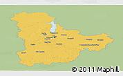 Savanna Style Panoramic Map of Kyyivs'ka, single color outside
