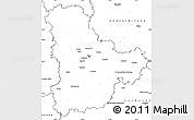 Blank Simple Map of Kyyivs'ka