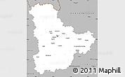 Gray Simple Map of Kyyivs'ka