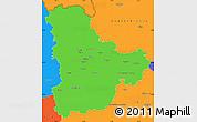 Political Simple Map of Kyyivs'ka
