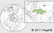 Savanna Style Location Map of Ukraine, blank outside