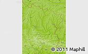 Physical Map of Luhans'ka